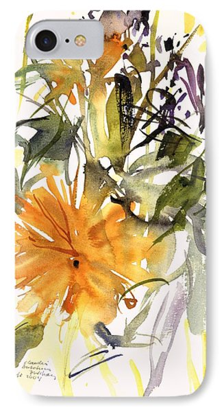 Marigold And Other Flowers IPhone Case by Claudia Hutchins-Puechavy