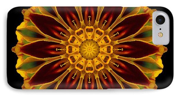 Marigold Flower Mandala IPhone Case by David J Bookbinder