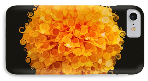 Marigold Magic Abstract Flower Art IPhone Case