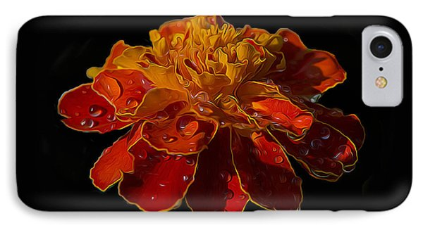 Marigold Tagetes Phone Case by Michael Moriarty