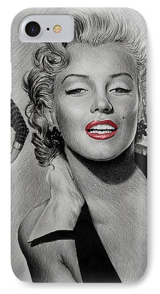 Marilyn Hot Lips Version IPhone Case by Andrew Read