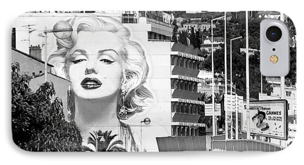 IPhone Case featuring the photograph Marilyn In Cannes by Jennie Breeze