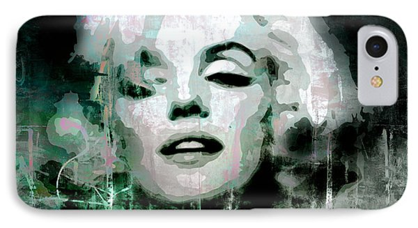 IPhone Case featuring the digital art Marilyn by Kim Gauge