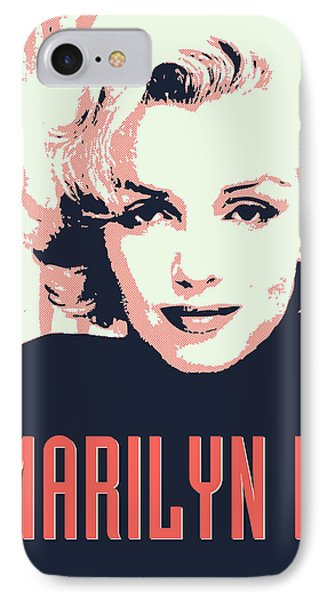 Marilyn M IPhone Case by Chungkong Art
