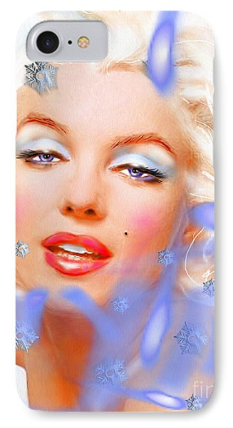 IPhone Case featuring the painting Marilyn M. by Daniel Janda