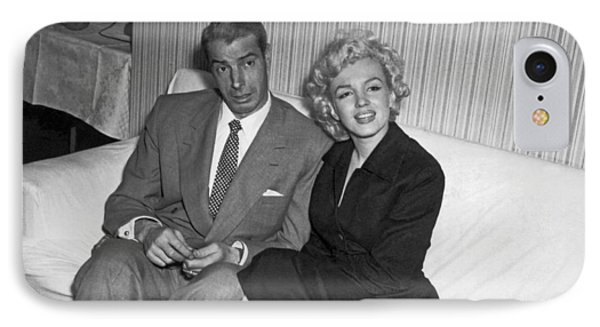 Marilyn Monroe And Joe Dimaggio IPhone Case by Underwood Archives