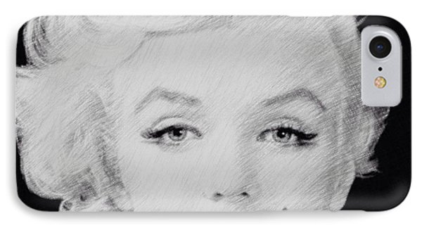 Marilyn Monroe 1 IPhone Case by Lisa Piper