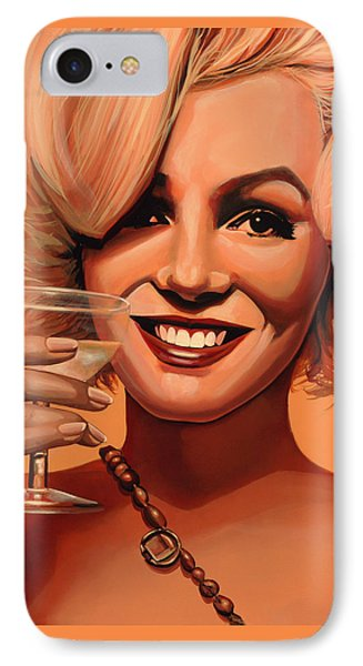 Marilyn Monroe 5 IPhone Case by Paul Meijering