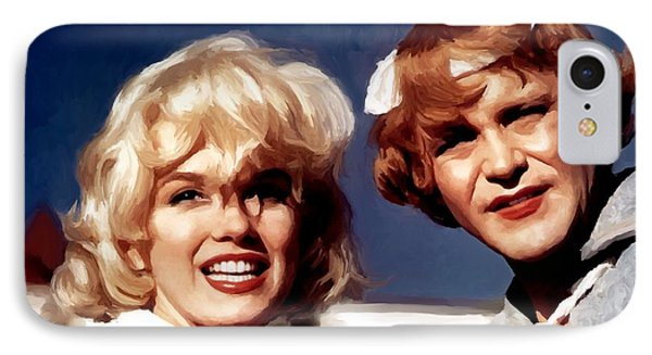Marilyn Monroe And Jack Lemon Portrait IPhone Case