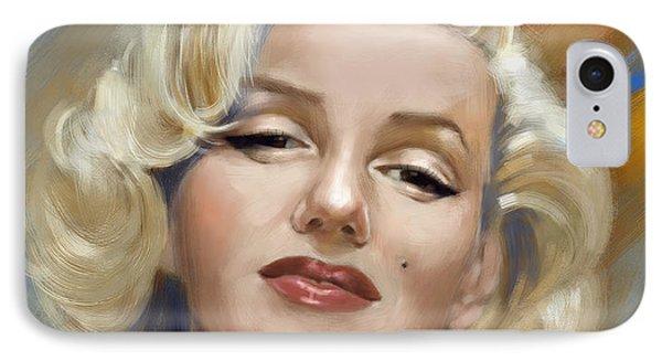 Marilyn Monroe IPhone Case by Arie Van der Wijst