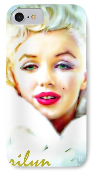 Marilyn Monroe IPhone Case by Barbara Chichester