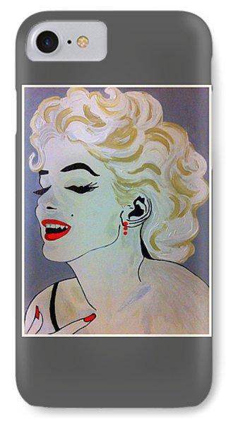 Marilyn Monroe Beautiful IPhone Case by Saundra Myles
