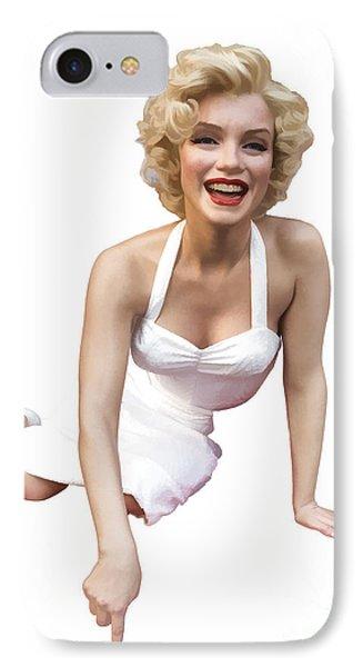Marilyn Monroe IPhone Case by Edward Fielding