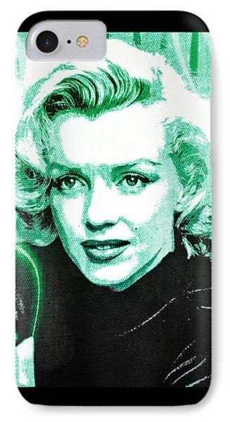 Marilyn Monroe - Green Phone Case by Absinthe Art By Michelle LeAnn Scott
