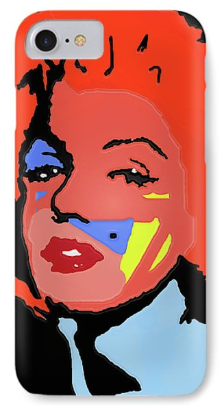 Marilyn Monroe In Color IPhone Case by Robert Margetts