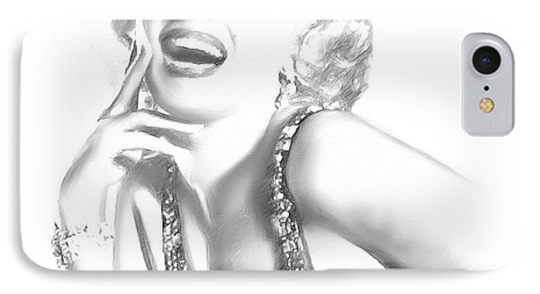 Marilyn Monroe - In Memory Phone Case by Angela A Stanton