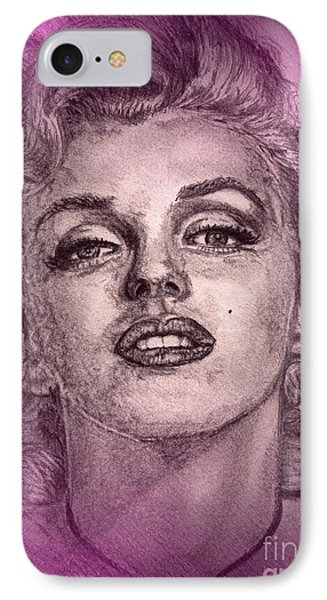 Marilyn Monroe In Pink Phone Case by J McCombie