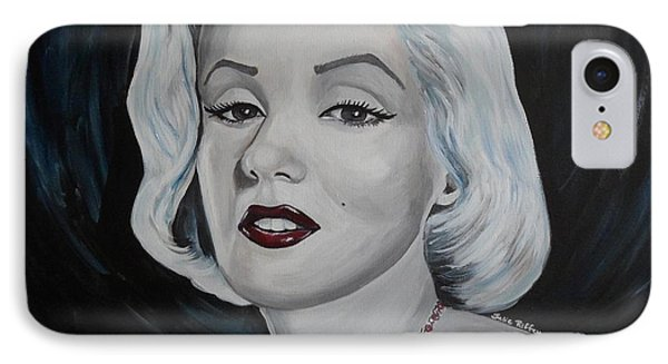 IPhone Case featuring the painting Marilyn Monroe by Julie Brugh Riffey