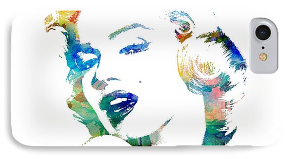 Marilyn Monroe IPhone Case by Mike Maher