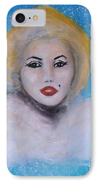 Marilyn Monroe Out Of The Blue Into The White IPhone Case by Donna Dixon