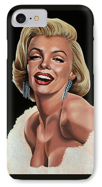 Marilyn Monroe IPhone Case by Paul Meijering
