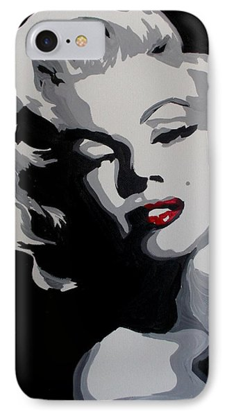 Marilyn Monroe Red Lips Phone Case by Marisela Mungia