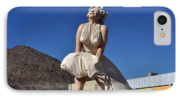 Marilyn Monroe Statue In Palm Springs California IPhone Case by Diane Lent