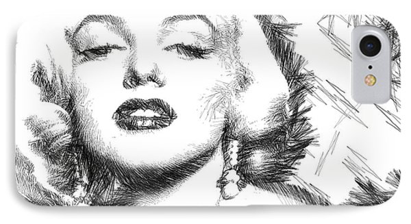 Marilyn Monroe - The One And Only  IPhone Case by Rafael Salazar