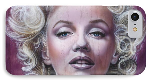 Marilyn Monroe Phone Case by Timothy Scoggins