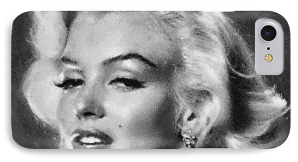 Beautiful Marilyn Monroe Unique Actress IPhone Case by Georgi Dimitrov
