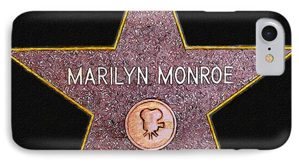 Marilyn Monroe's Star Painting  Phone Case by Bob and Nadine Johnston