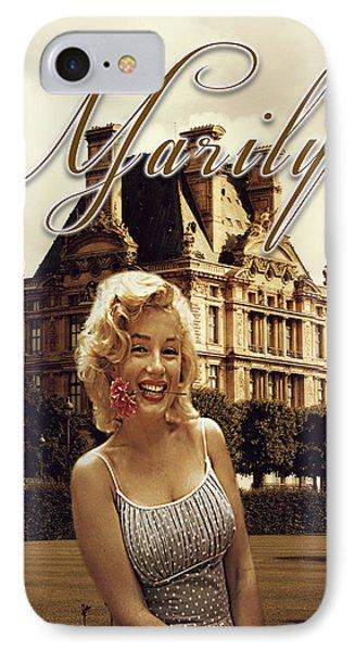 Marilyn Paris Monroe IPhone Case by Greg Sharpe