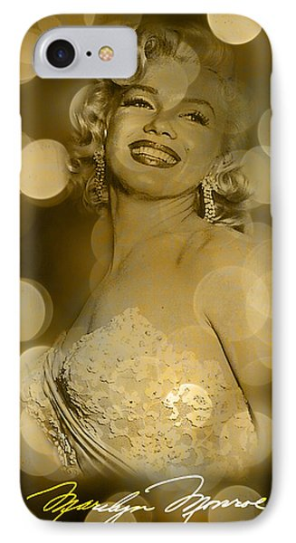 Marilyn Sparkles IPhone Case by Greg Sharpe