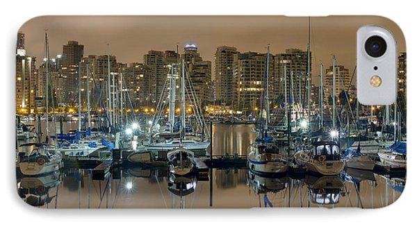 Marina Along Stanley Park In Vancouver Bc Phone Case by David Gn