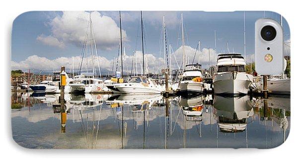 Marina At Granville Island Vancouver Bc Phone Case by David Gn