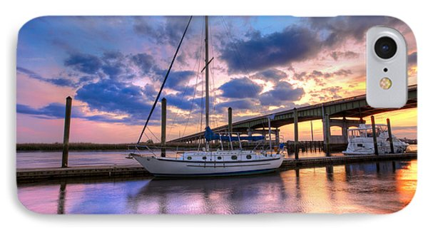 Marina At Sunset Phone Case by Debra and Dave Vanderlaan