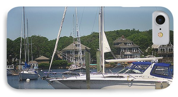 IPhone Case featuring the photograph Marina At Woods Hole Ma by Suzanne Powers