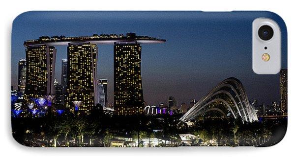 Marina Bay Skyline IPhone Case by Ivy Ho