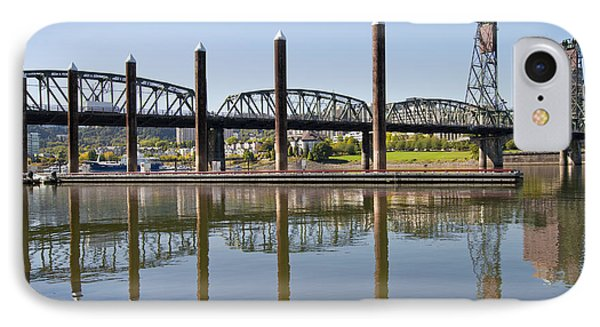 IPhone Case featuring the photograph Marina By Willamette River In Portland Oregon by JPLDesigns