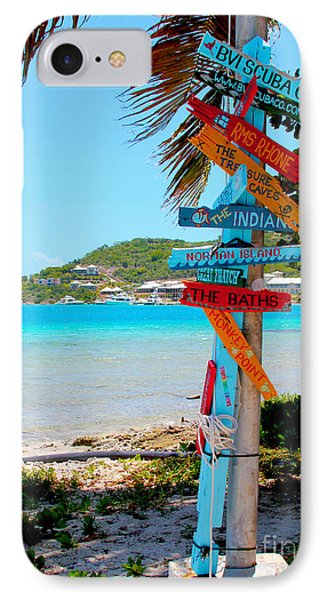 Marina Cay Sign IPhone Case by Carey Chen