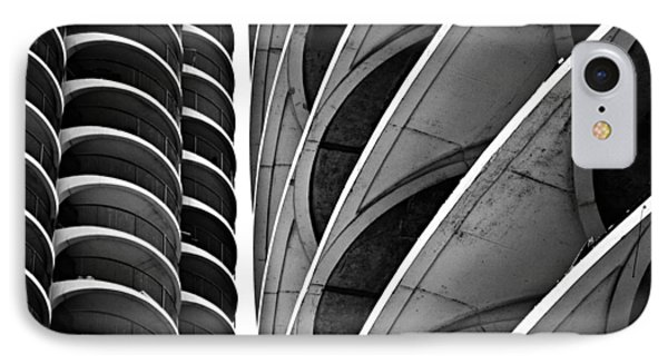 Marina City Chicago 2 IPhone Case by Niels Nielsen