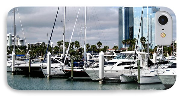 IPhone Case featuring the photograph Marina In Sarasota by Oksana Semenchenko