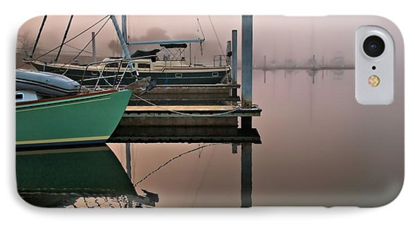 IPhone Case featuring the photograph Marina Morning by Laura Ragland