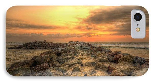 Marina Park Beach Sunset IPhone Case by Eddie Yerkish