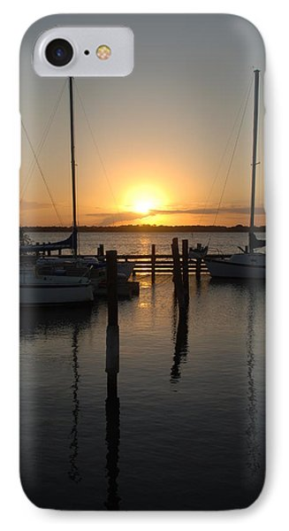 Marina Sunset 2 IPhone Case