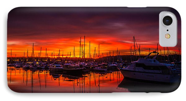 Marina Sunset Phone Case by Dawn OConnor