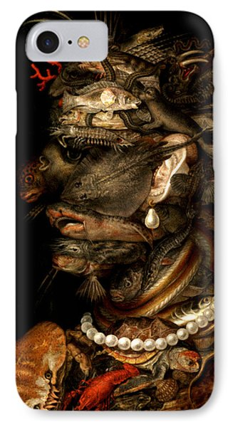 IPhone Case featuring the digital art Marine Life by Giuseppe Arcimboldo