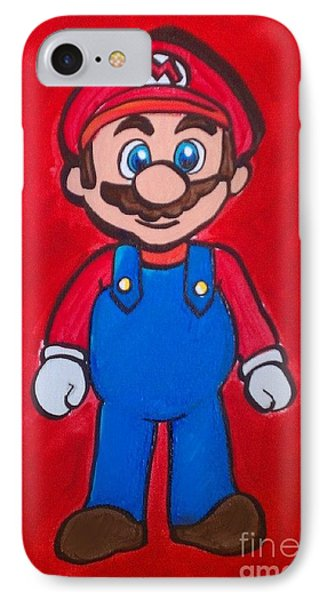 IPhone Case featuring the painting Mario by Marisela Mungia