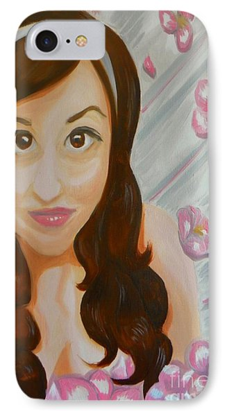 IPhone Case featuring the painting Marisela by Marisela Mungia