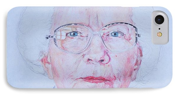 Marjorie's Portrait IPhone Case by PainterArtist FINs husband Maestro